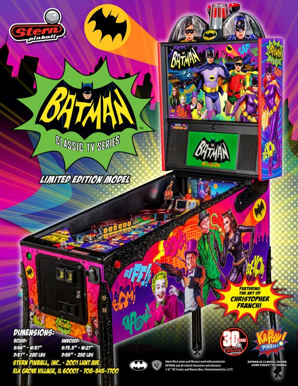 Batman 66 Premium Pinball Machine Elite Home Gamerooms