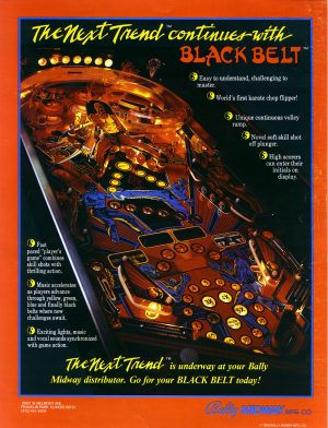 Black Belt image 9 300x392 - Black Belt pinball machine