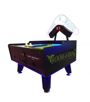 BoomARangLED Vibert Green 300x338 - Great American Boom-A-Rang Air Hockey Table with Electronic Scoring