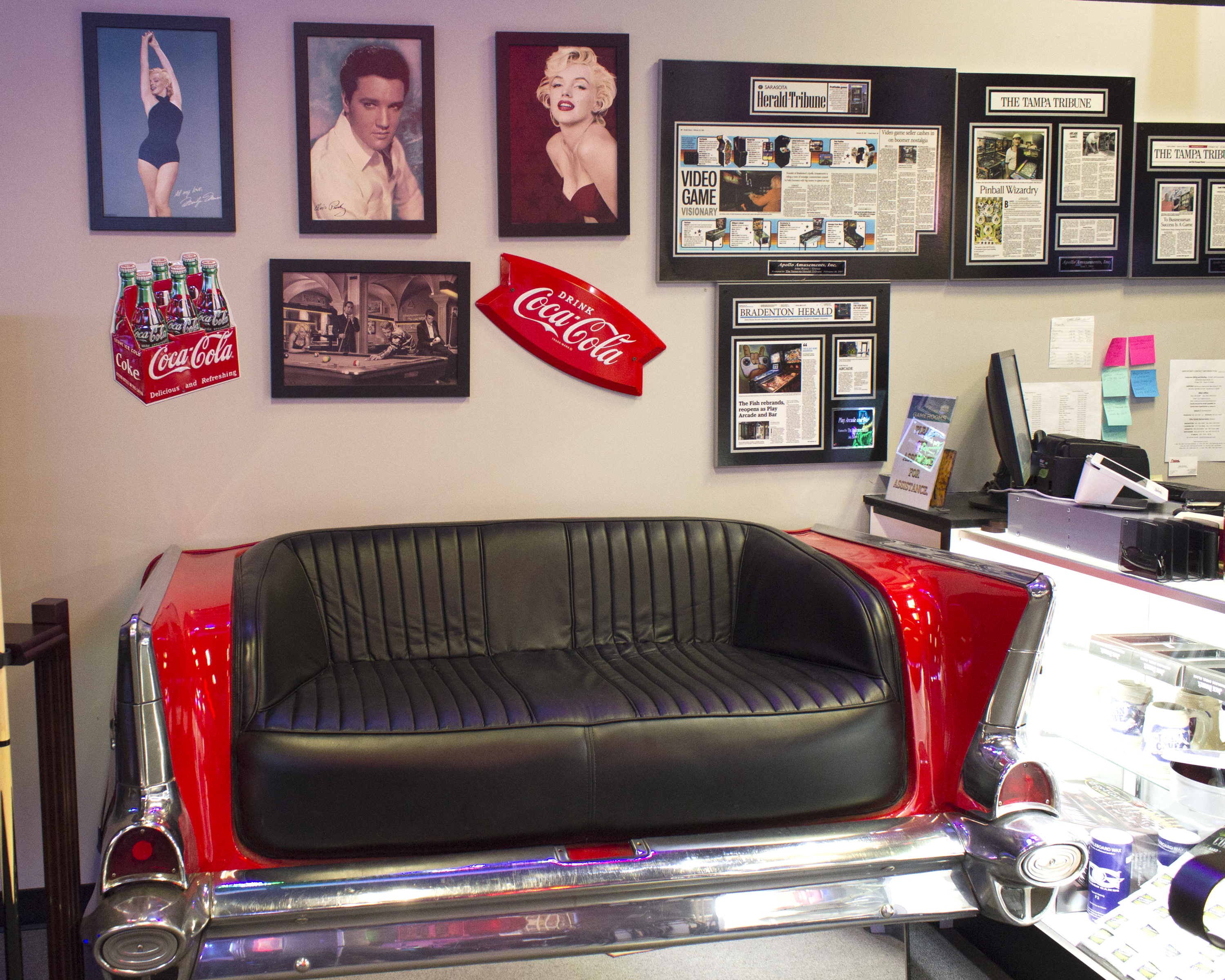 57 Chevy Bel Air Couch | Elite Home Gamerooms