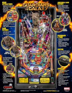 GOTG image 11 300x388 - Guardians of the Galaxy Pinball Machine