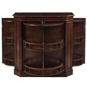 Game room cabinet 300x300 - Game Room Bar Cabinet, w/ Spindle, Cappuccino