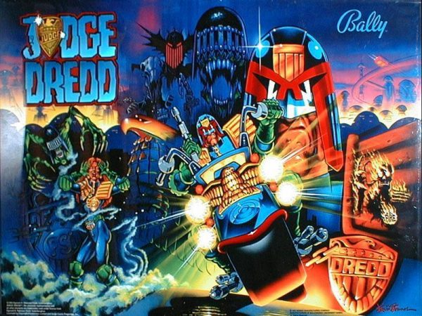 Judge Dredd Pinball Machine Elite Home Gamerooms