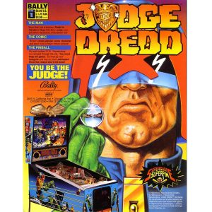 Judge Dredd Pinball Machine Flyer