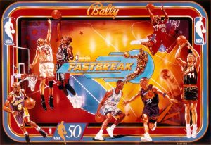 NBA image 8 300x206 - NBA Fastbreak Pinball Machine