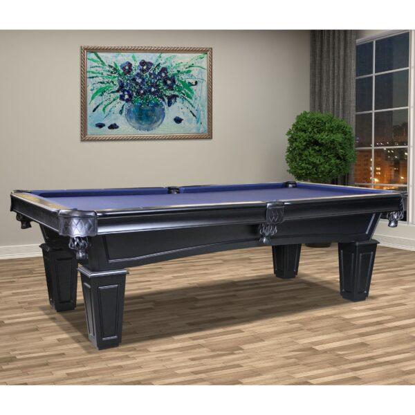 8- Foot Shadow Pool Table in black, by Imperial Billiards