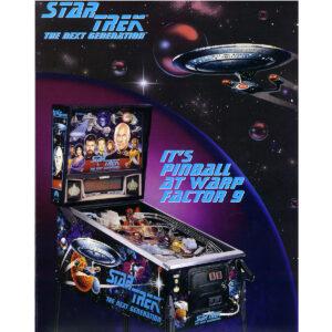 Star Trek Next Generation Pinball Flyer
