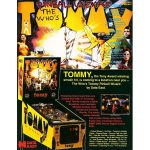 The Who's Tommy Pinball Machine Flyer