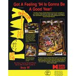 The Who's Tommy Pinball Machine Flyer 2