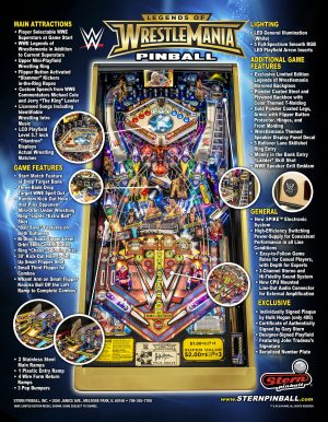 WWE image 6 300x386 - Legends of Wrestlemania Pinball Machine
