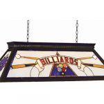 Stained Glass Billiards Light Fixture