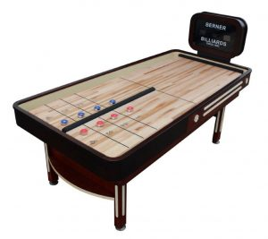 reboundltd shuf 133 detail 300x267 - Berner Rebound Limited Shuffleboard Table with Electronic Scoreboard