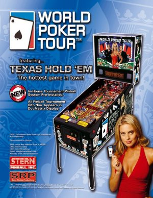 World Poker Tour Pinball Machine Flyer