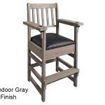 BArndoor Gray Finish Spectator Chair Main