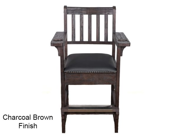 Charcoal Brown Finish Spectator Chair