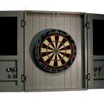 Dartboard cabinet open