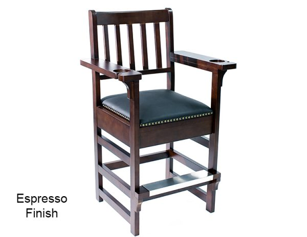 Espresso Finish Spectator Chair