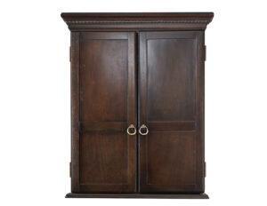 Gray Walnut DB Cabinet 300x232 - Classic Dartboard Cabinet