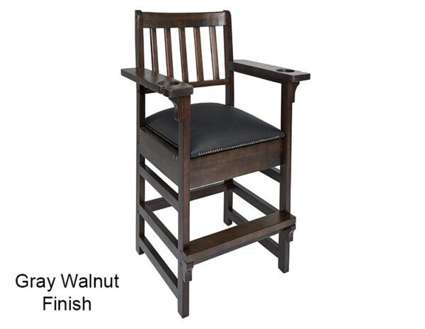 Gray Walnut Finish Spectator Chair