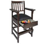 Gray Walnut Spectator Chair Open