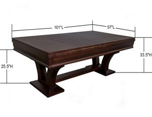 Hamilton with Dims 8 foot table 300x232 - Hamilton Pool Table