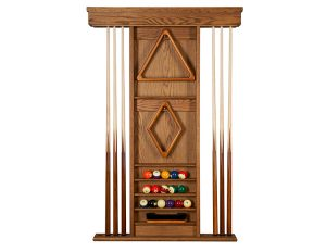 Rustic Oak Ambassador Wall Rack 300x232 - Tyler Pool Table