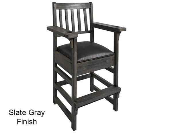 Slate Gray Finish Spectator Chair
