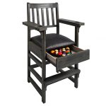 Slate Gray Spectator Chair Open