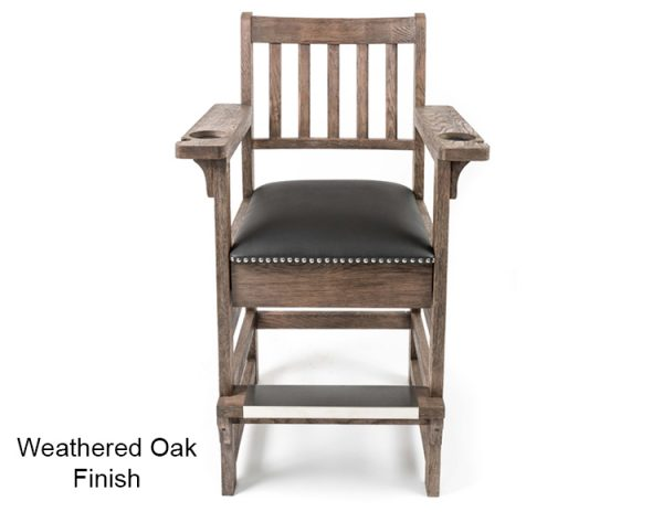 Weathered Oak Finish Spectator Chair