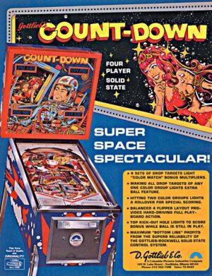 Count-Down Pinball Machine by Gottlieb Flyer