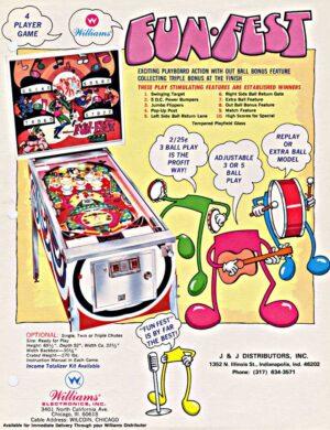 Fun Fest Pinball Flyer1 300x390 - Fun-Fest Pinball Machine