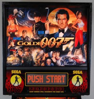 007 Goldeneye Pinball Machine Backglass