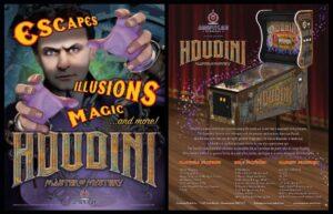 """Houdini Pinball Full Flyer1 300x193 - Houdini """"Master of Mystery"""" Pinball Machine"""