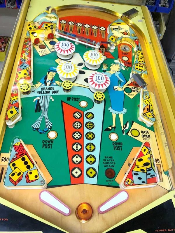Little Joe Pinball Machine by Bally Playfield