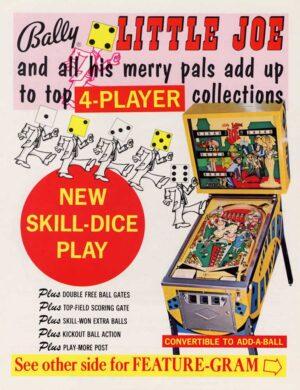 Little Joe Pinball Machine by Bally Flyer