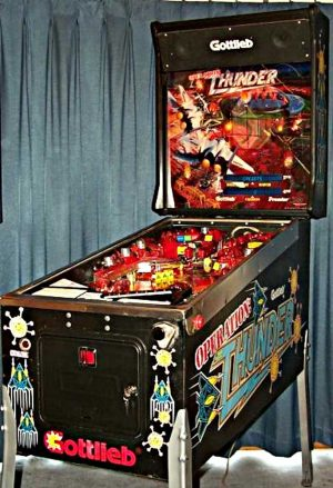 Operation: Thunder Pinball Machine