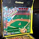 Silver Slugger Pinball Machine Backglass