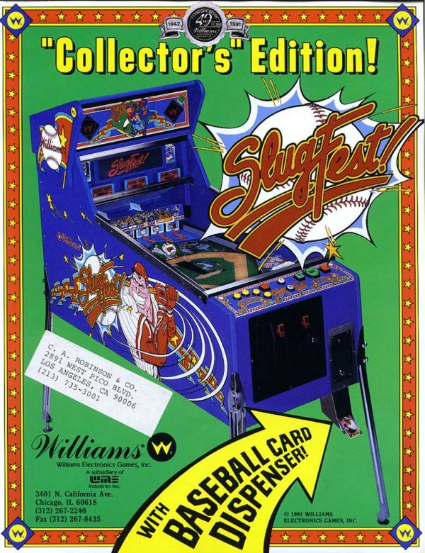 Slugfest Pinball Machine by Williams Flyer