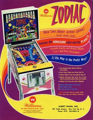 Zodiac Pinball Machine Flyer