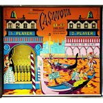 Casanova Pinball Machine Backglass