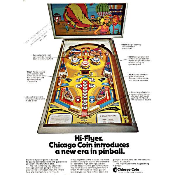 Hi-Flyer Pinball Machine Flyer
