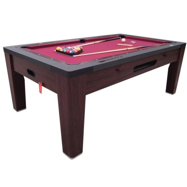 6 in 1 Multi Game Table Walnut 1