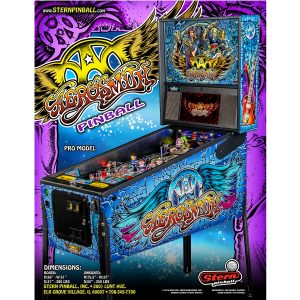 Aerosmith Pro Pinball Machine Flyer
