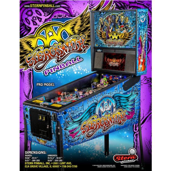 Aerosmith Pro Pinball Machine Flyer