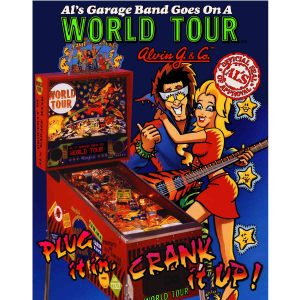 Als Garage Band Pinball Flyer