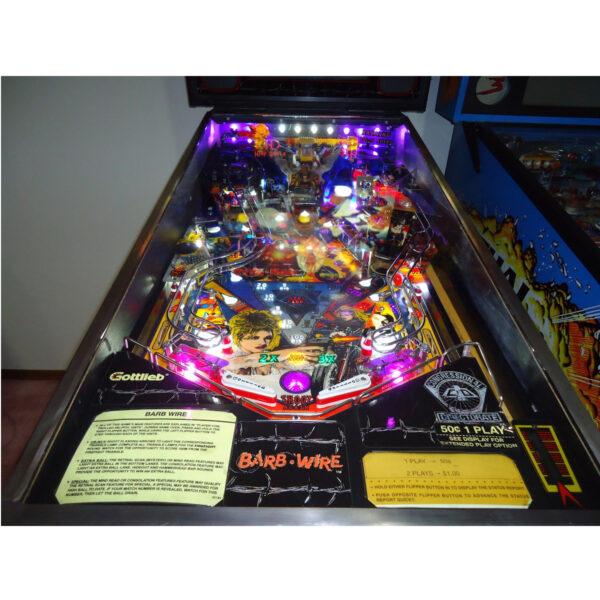 Barb Wire Pinball Machine Playfield