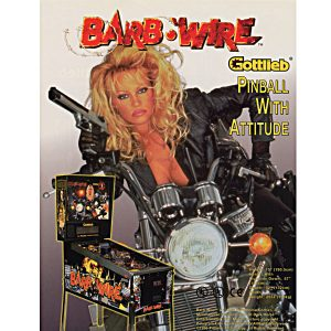 Barb Wire Pinball Machine Flyer