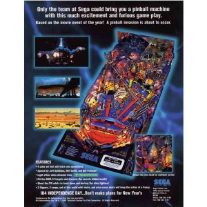 Independence Day Pinball Machine Flyer
