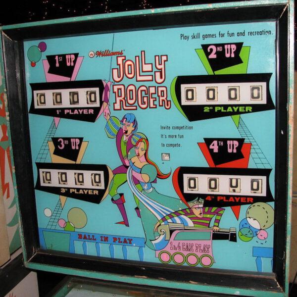 Jolly Roger Pinball Backglass