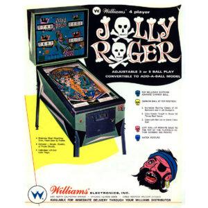 Jolly Roger Pinball Machine Flyer